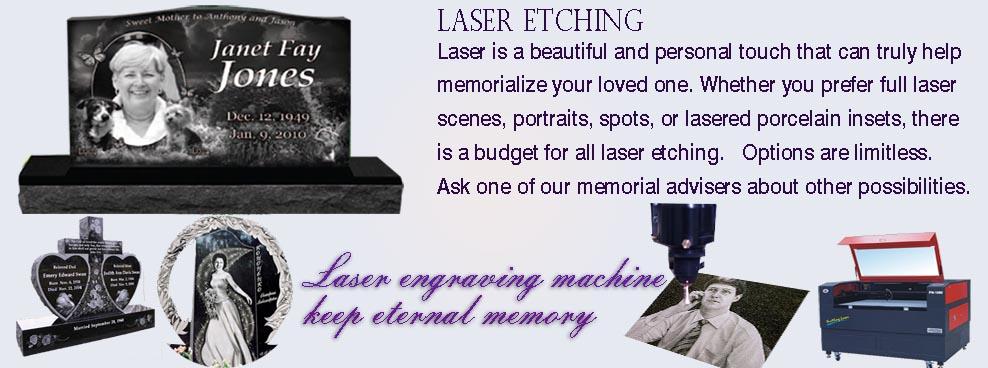 Laser engraving - 中式墓碑